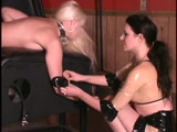 Spanked in restraints