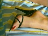 Young feet and massive cock