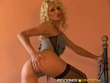 Gorgeous blond babe solo