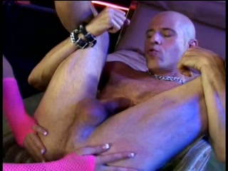 Beautiful stripper pegging her client
