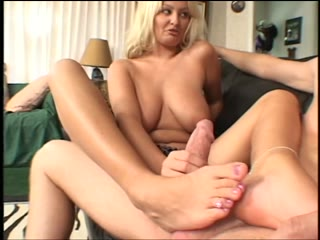 Beautiful feet drenched in cum
