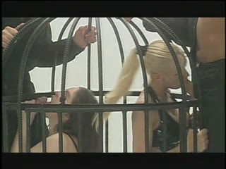 Caged bdsm sex slaves