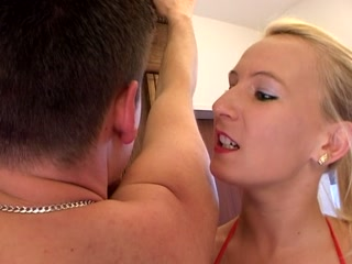 Femdom Spanking and Milking