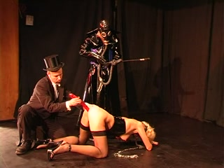 Ponygirl gets trained by her bdsm masters