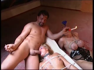 Tied up and forced lesbian sex