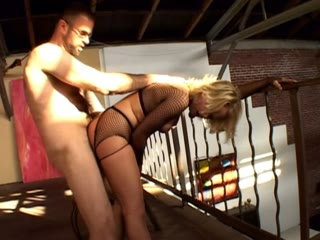 Little blonde angel learns BDSM