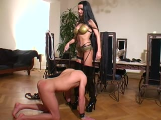 Whipping, Boot worship and strapon dildo