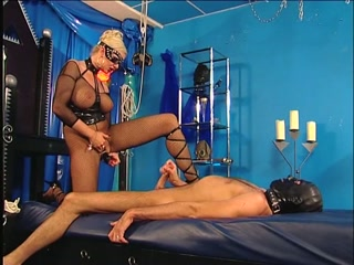 BDSM Mistress plays with herself