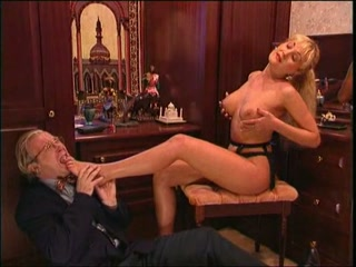 Young woman and sugar daddy slave
