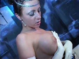 Latex gloves solo masurbation