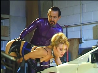 Latex Couple Garage Sex