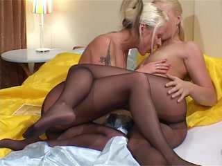 Lesbians in nylon stockings foot fetish